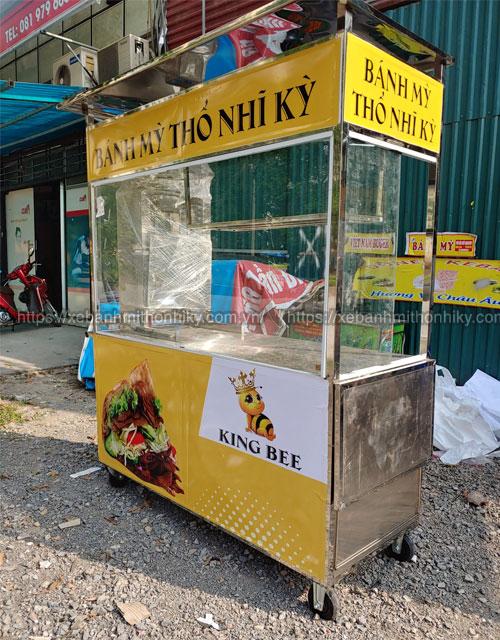 Quang Huy sản xuất và phân phối xe bánh mì Thổ Nhĩ Kỳ 2m báo giá tại xưởng