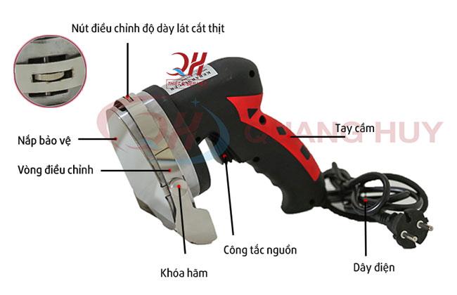 Cấu tạo máy cắt thịt cầm tay KS 100E Quang Huy