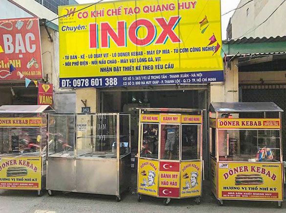 Công ty TNHH Thiết bị bếp việt Quang Huy thiết kế theo yêu cầu
