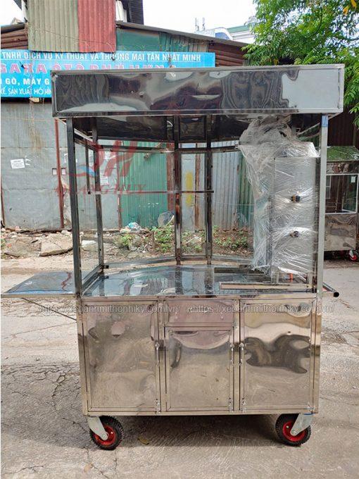 Khung xe bánh mì lục giác 1m3 từ inox 304