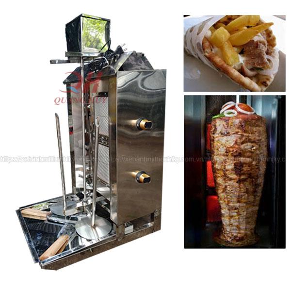 Lò nướng thịt Doner Kebab 2 buồng đốt Quang Huy