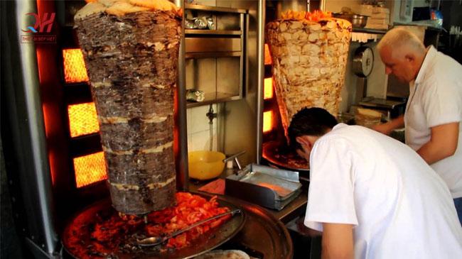 Lò nướng thịt doner kebab 3 buồng đốt nhập khẩu