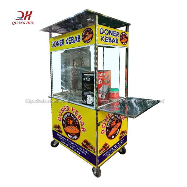 Mẫu xe đẩy bánh mì 1m Quang Huy