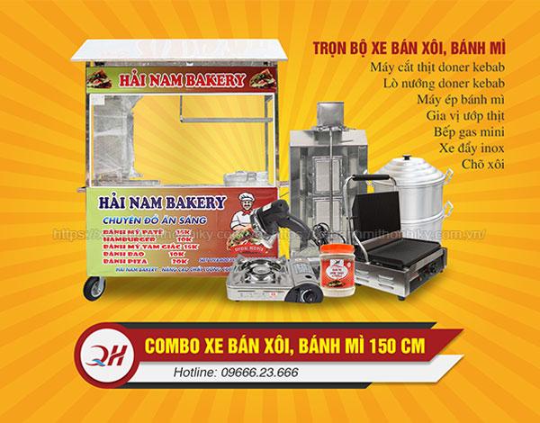 Trọn bộ xe xôi bánh mì Quang Huy