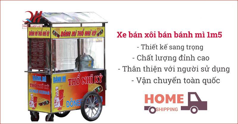 Xe bán xôi bán bánh mì 1m5 Quang Huy