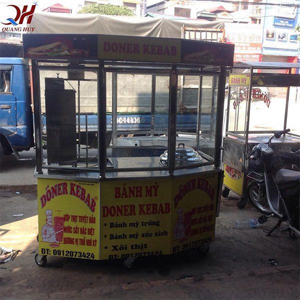 Xe bánh mì doner kebab lục giác 1m5 Quang Huy