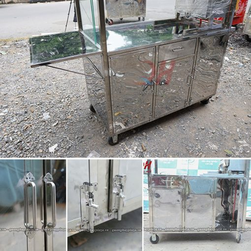 Xe bánh mì inox Quang Huy độ bền cao