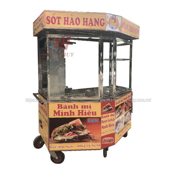 Xe bánh mì Doner Kebab lục giác 1m6 Quang Huy