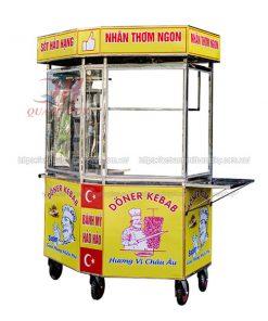 Xe bánh mì lục giác Kebab 1m4 Quang Huy