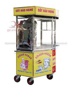 Xe bánh mì lục giác Doner kebab 1m4 Quang HUy