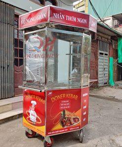 Xe bánh mì lục giác Doner Kebab Quang Huy 1m5