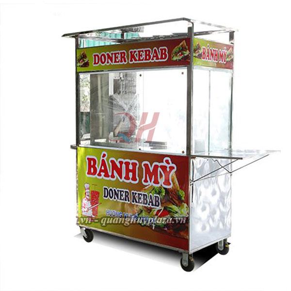 Xe đẩy bán bánh mì Thổ Nhĩ Kỳ 1m2 Quang Huy
