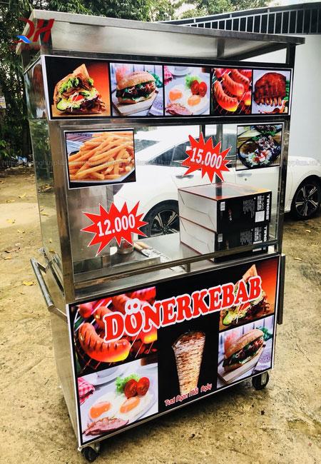 Xe bánh mì thổ nhĩ kỳ doner kebab 1m2