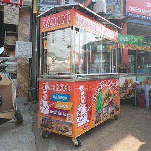 Xe đẩy bán bánh mì Thổ Nhĩ Kỳ 2m Quang Huy