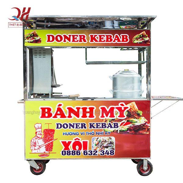 Xe đẩy bán bánh mì bán xôi 2m Quang Huy