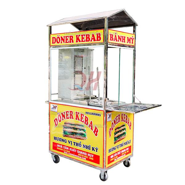 Xe bánh mì Doner kebab 90cm Quang Huy