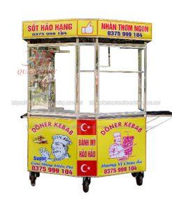 Xe lục giác Doner Kebab 1m4 Quang Huy