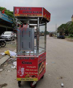 Xe bánh mì Kebab lục giác 1m3 Quang Huy