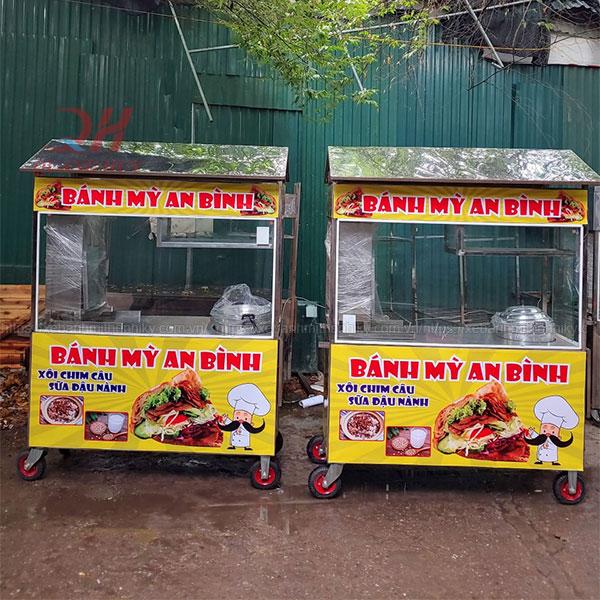 Xe xôi 2m bán xôi bánh mì Quang Huy
