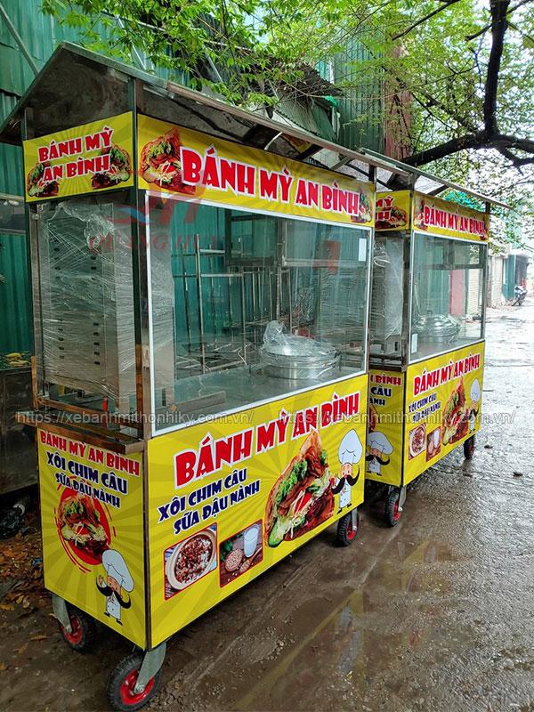 Xe xôi 2m Quang Huy bán hàng vỉa hè, cửa hàng