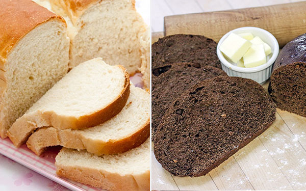 Bánh mì đen và bánh mì trắng