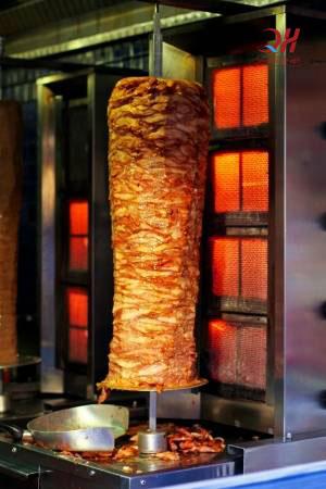 Lò nướng thịt doner kebab 4 buồng đốt