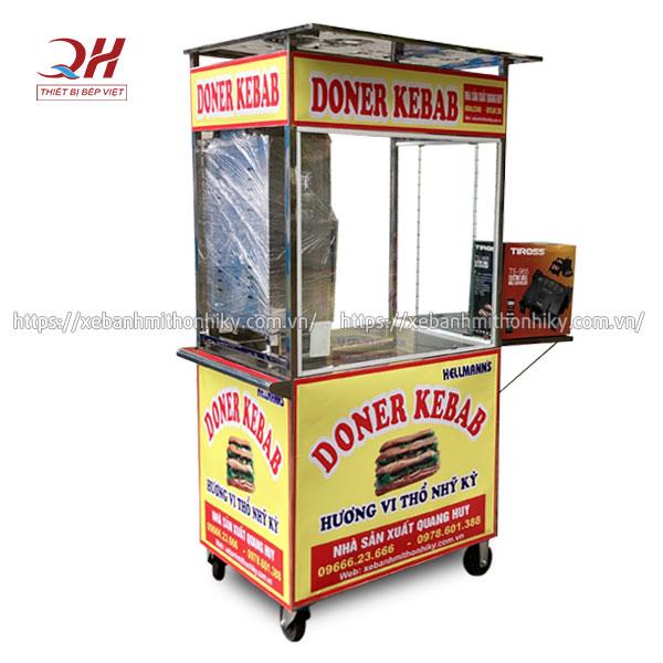 Mẫu xe đẩy bánh mì Kebab Mini cỡ nhỏ