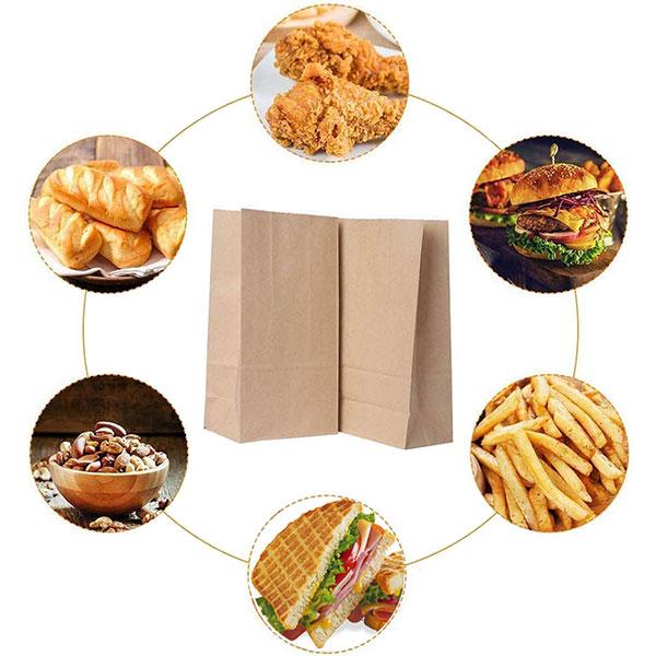 Túi giấy đựng đa dạng các loại bánh mì, đồ ăn vặt