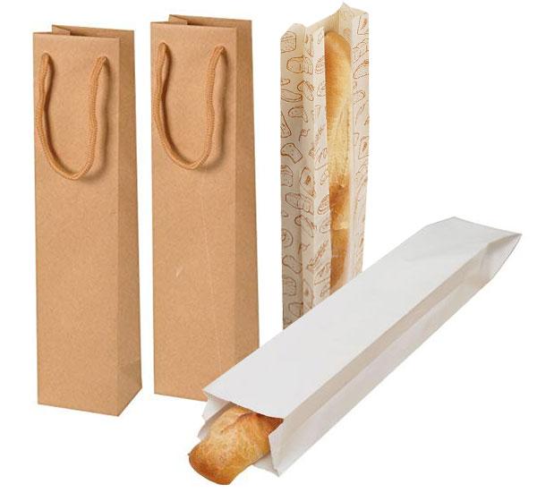 Mẫu túi giấy đựng bánh mì que có quai
