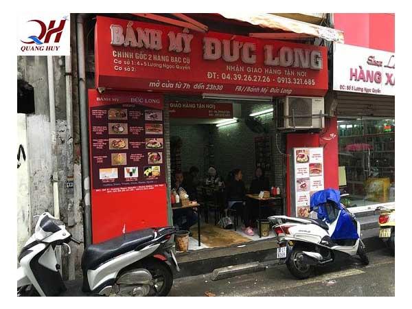 Không gian quán bánh mì Doner kebab Đức Long tại phố Lương Ngọc Quyến