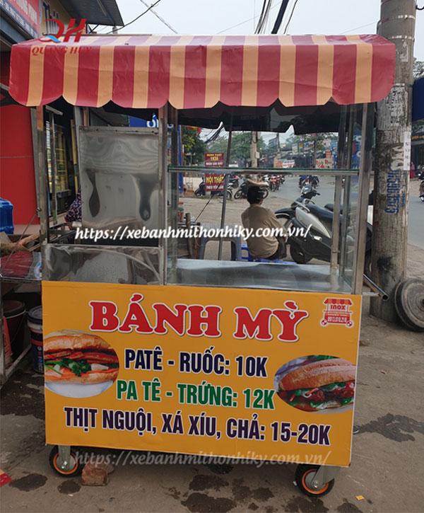 Thiết kế xe bán bánh mì pate, thịt nguội