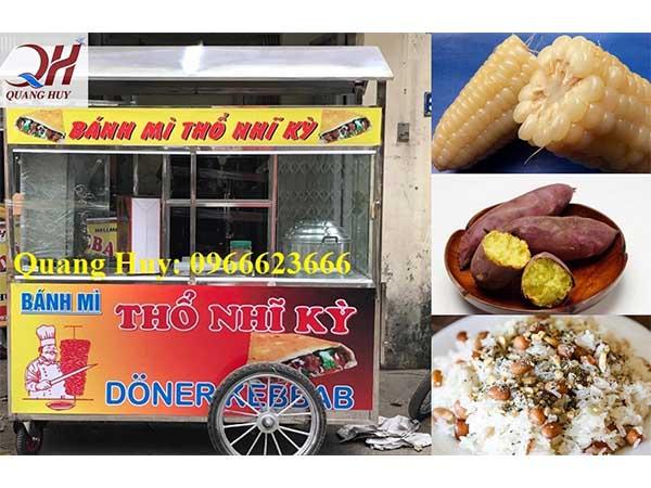 Xe bán xôi bán bánh mì Quang Huy