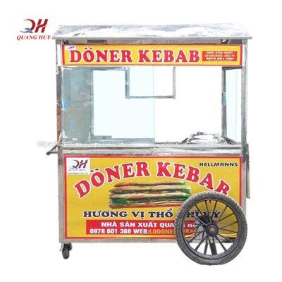 Xe bán xôi bánh mì Kebab giá rẻ do Quang Huy sản xuất