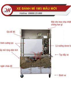 Cấu tạo chi tiết xe bánh mì Thổ Nhĩ Kỳ 1m5 Quang Huy mẫu mới
