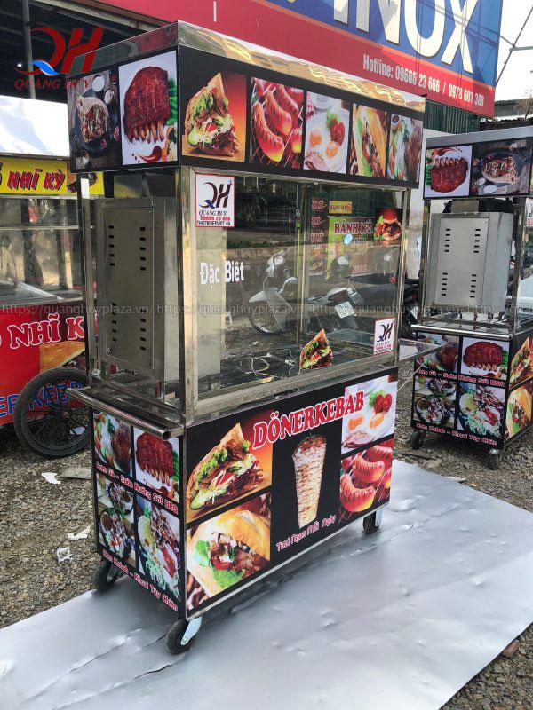 Xe bánh mì thổ nhĩ kỳ Doner Kebab 1m2 Quang Huy