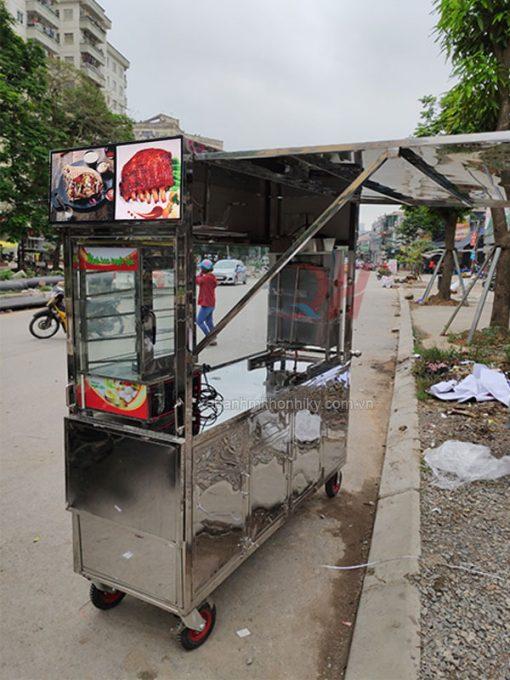Xe đẩy bánh mì thịt 1m5 Quang Huy mẫu mới