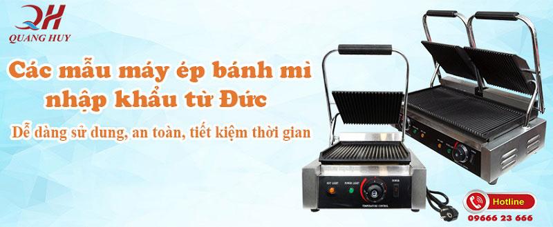 Banner máy ép bánh mì Quang Huy