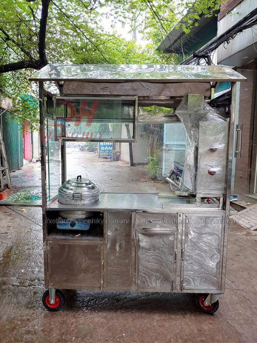 Khung inox 304 xe xôi 1m6 Quang Huy