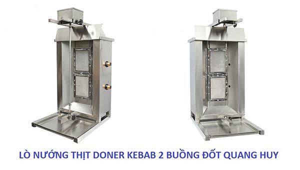 lò nướng thịt doner kebab 2 buồng đốt