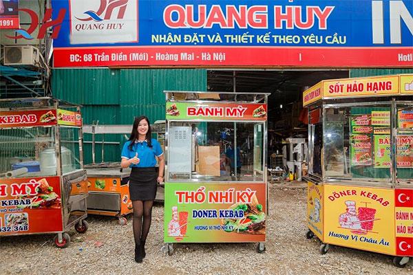 Xe bánh mì doner kebab Quang Huy giá tốt