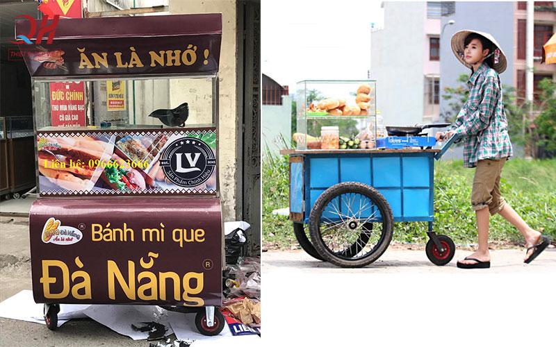 Xe bánh mì que loại cũ và do Quang Huy sản xuất