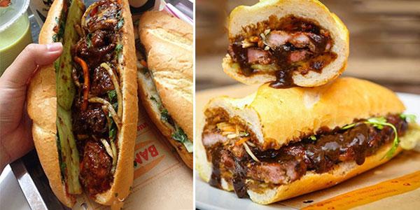 Bánh mì kẹp thịt bò ngon