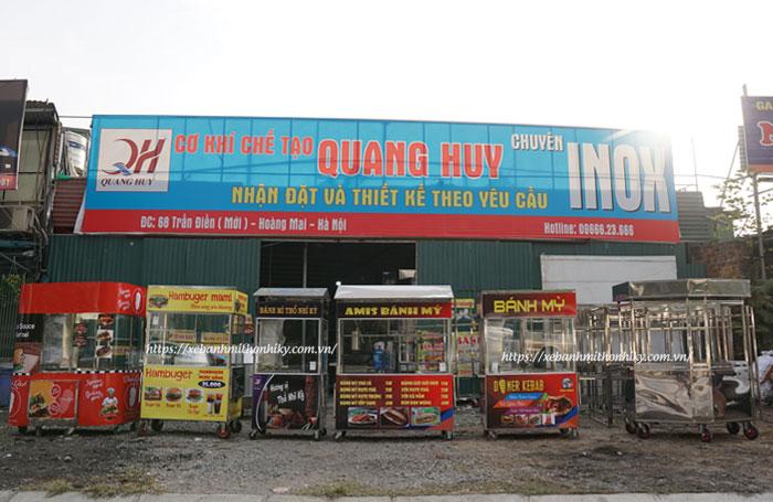 Hình ảnh các mẫu xe bán bánh mì Quang Huy