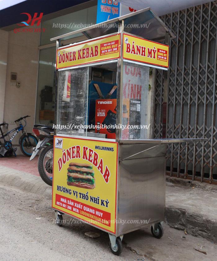 Hình ảnh xe đẩy bán bánh mì loại nhỏ
