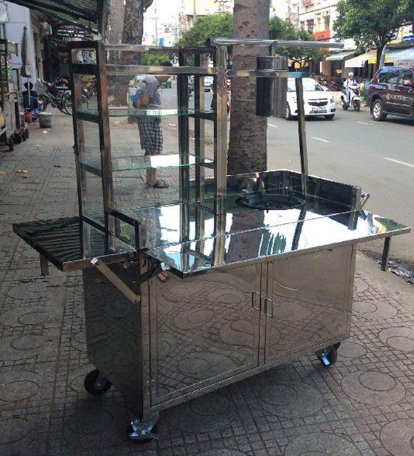 Khung xe bánh mì chả cá Quang Huy