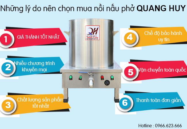 Quang Huy luôn là lựa chọn hàng đầu của người kinh doanh nhà hàng