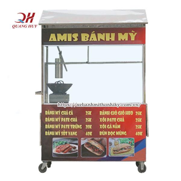 Thiết kế xe bánh mì chả cá nóng Amis