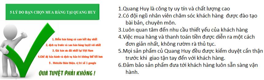 Dịch vụ ưu đãi hấp dẫn chỉ có tại Quang Huy