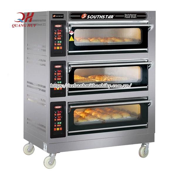 Lò nướng bánh mì 3 tầng 6 khay thương hiệu SouthStar