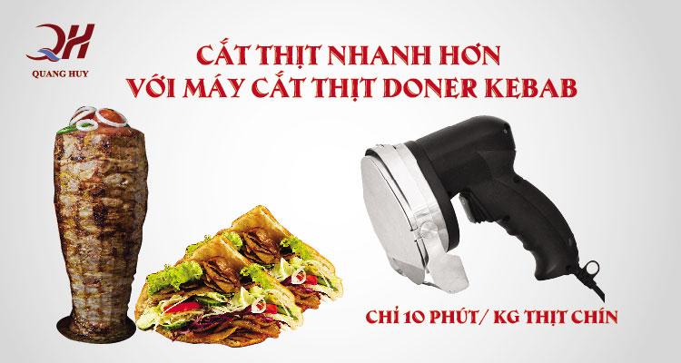 Máy cắt thịt doner kebab Quang Huy